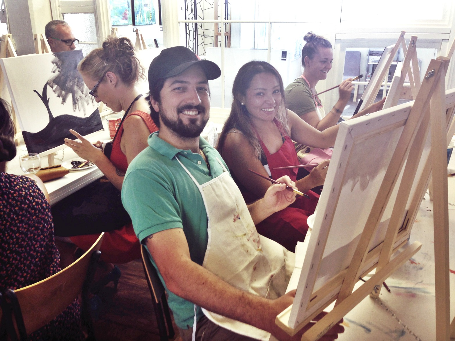 Paint NIght at 100 Braid St Studios