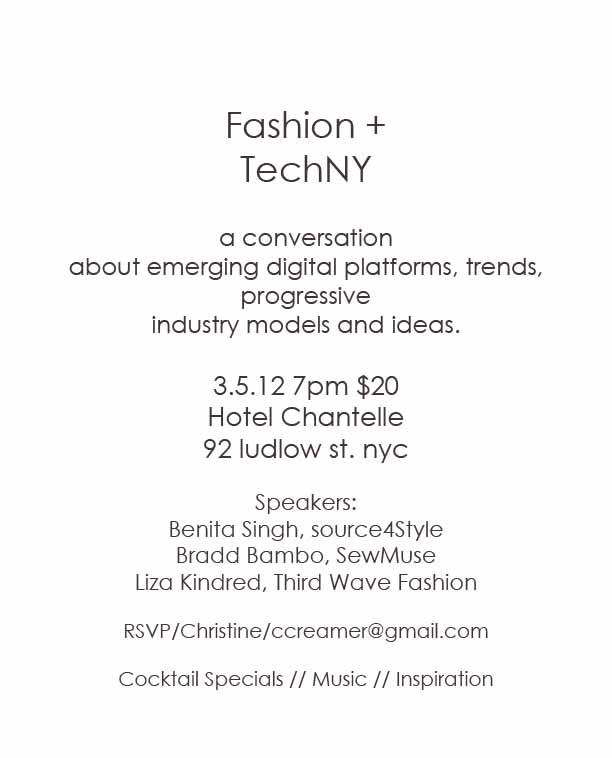 Fashion + TechNY // A Conversation