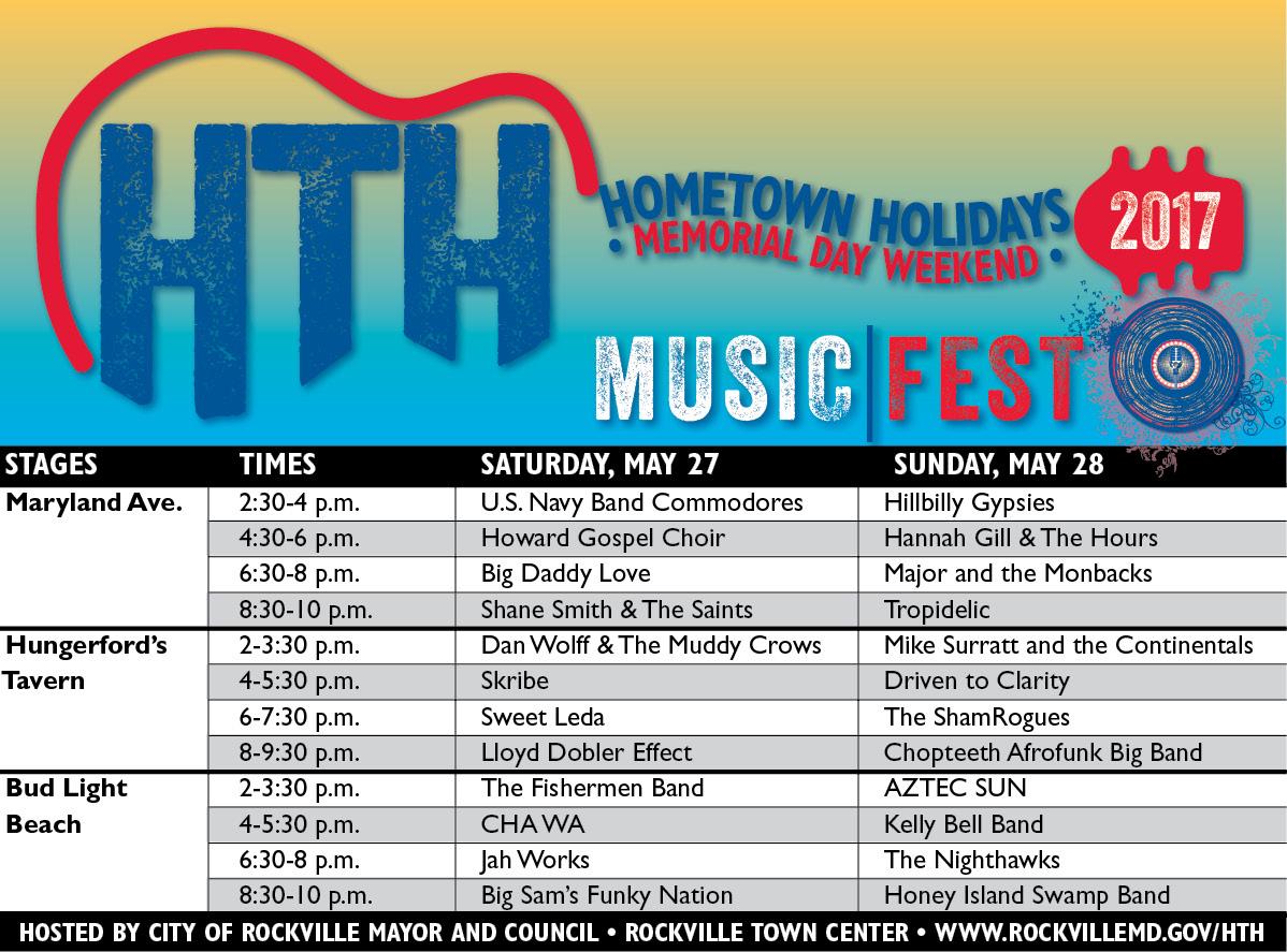 Hometown Holidays Schedule