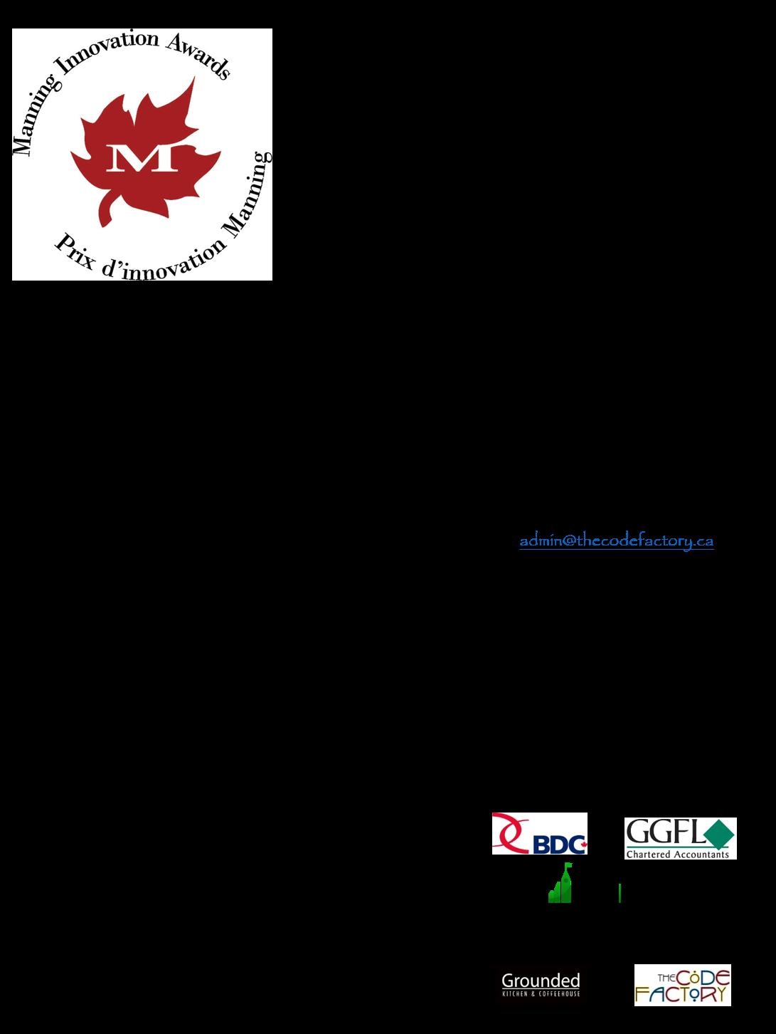 Ottawa Nominee Reception Invitation