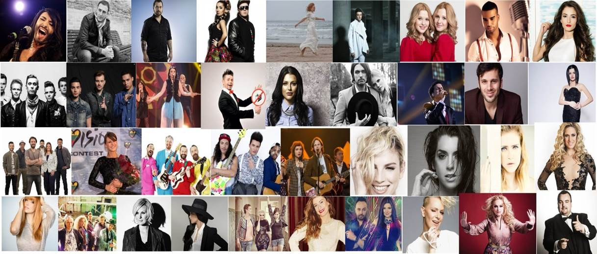 All 37 artists of the 2014 European Song Contest