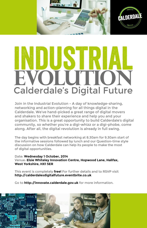 Industrial Evolution - Calderdale's Digital Furture invite