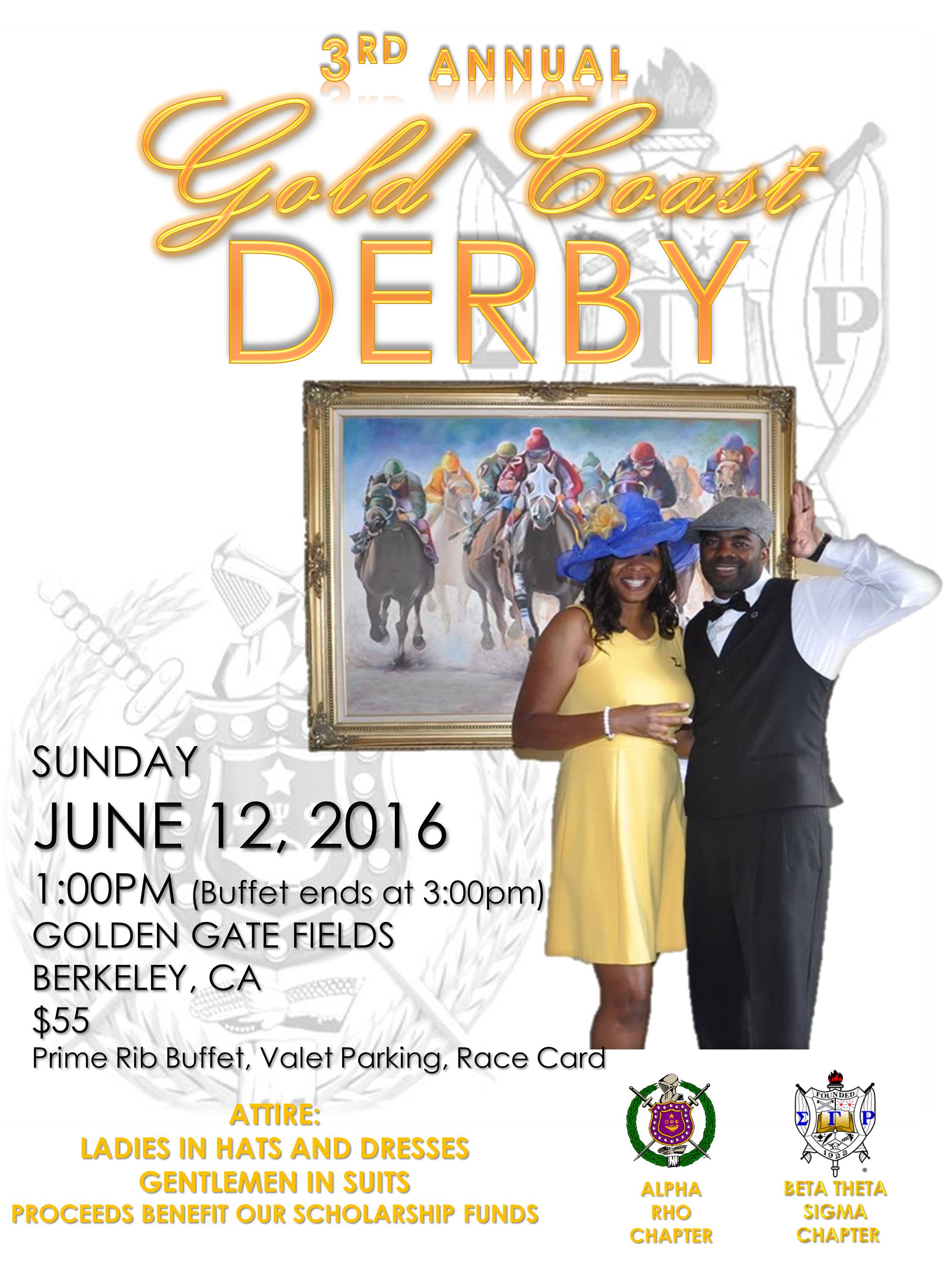 3rd annual gold coast derby day at the races sigma gamma rho and omega psi phi tickets sun