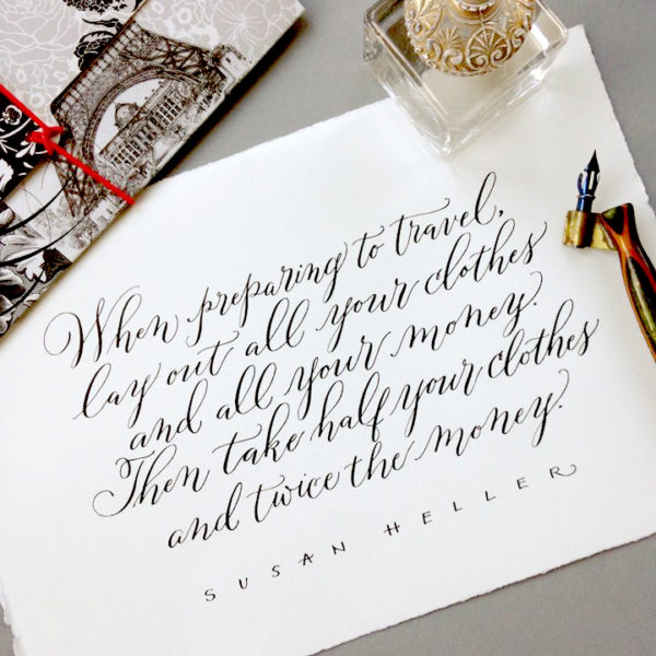 Modern calligraphy workshop an introduction to
