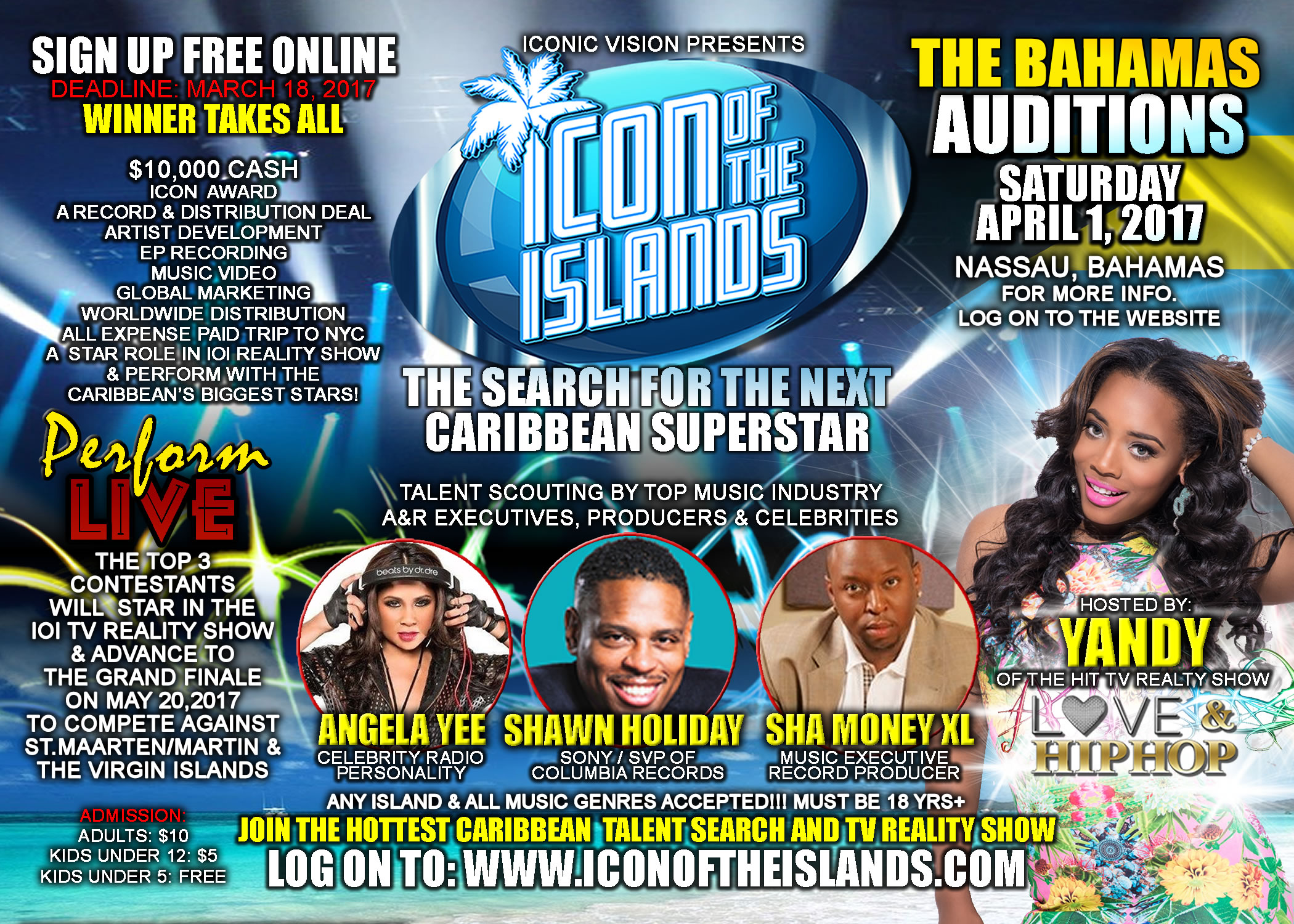 Bahamas Auditions 2017 - Icon of the Islands