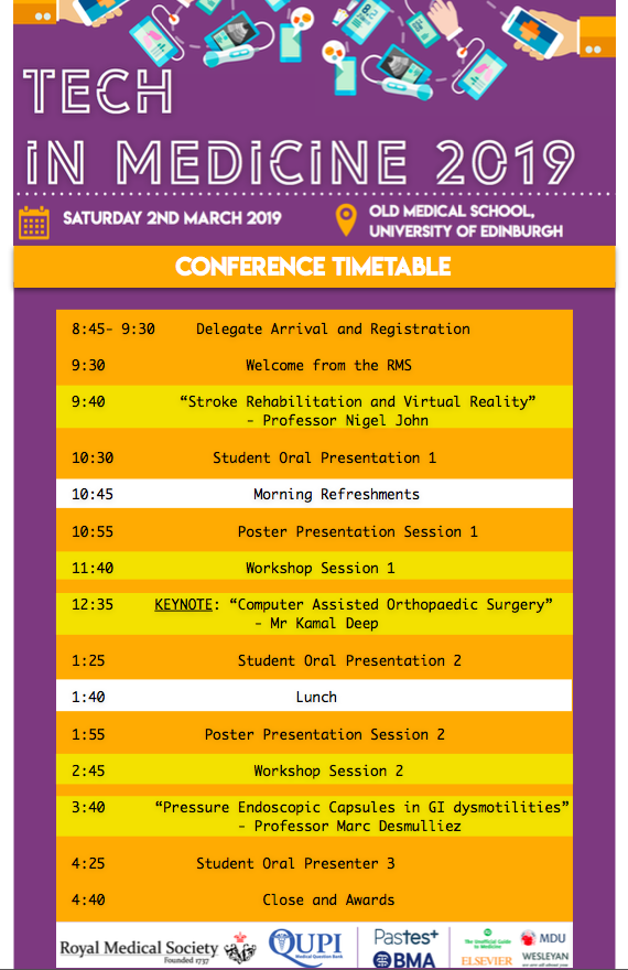 Tech in Medicine Conference Timetable