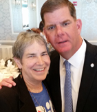 Thea Iberall with Mayor Marty Walsh