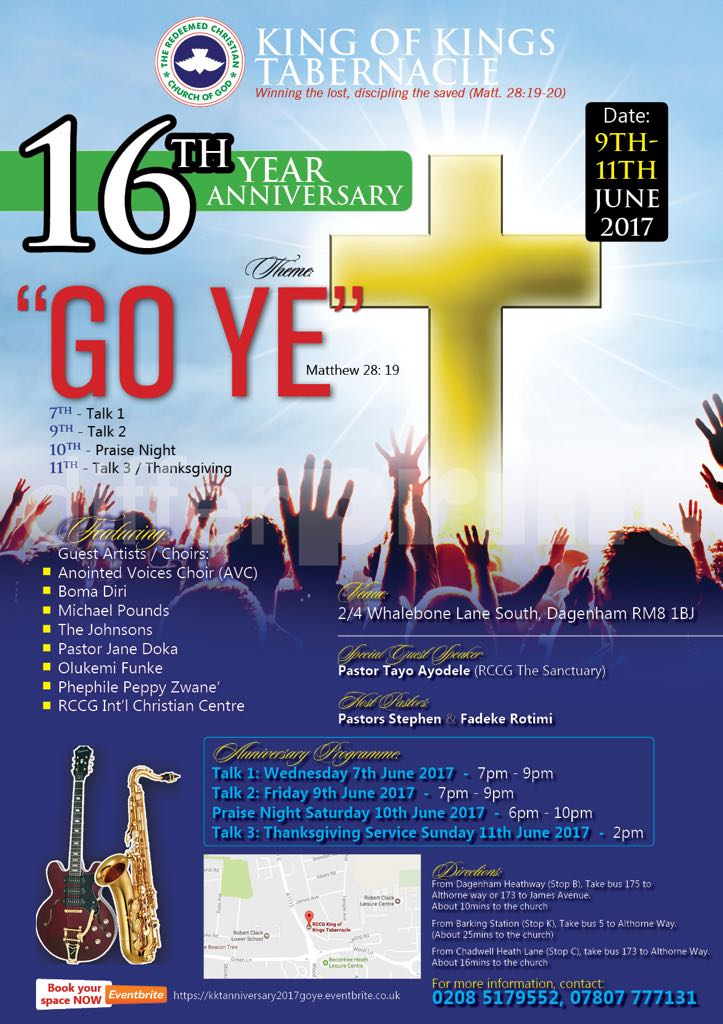 16th Anniversary flyer