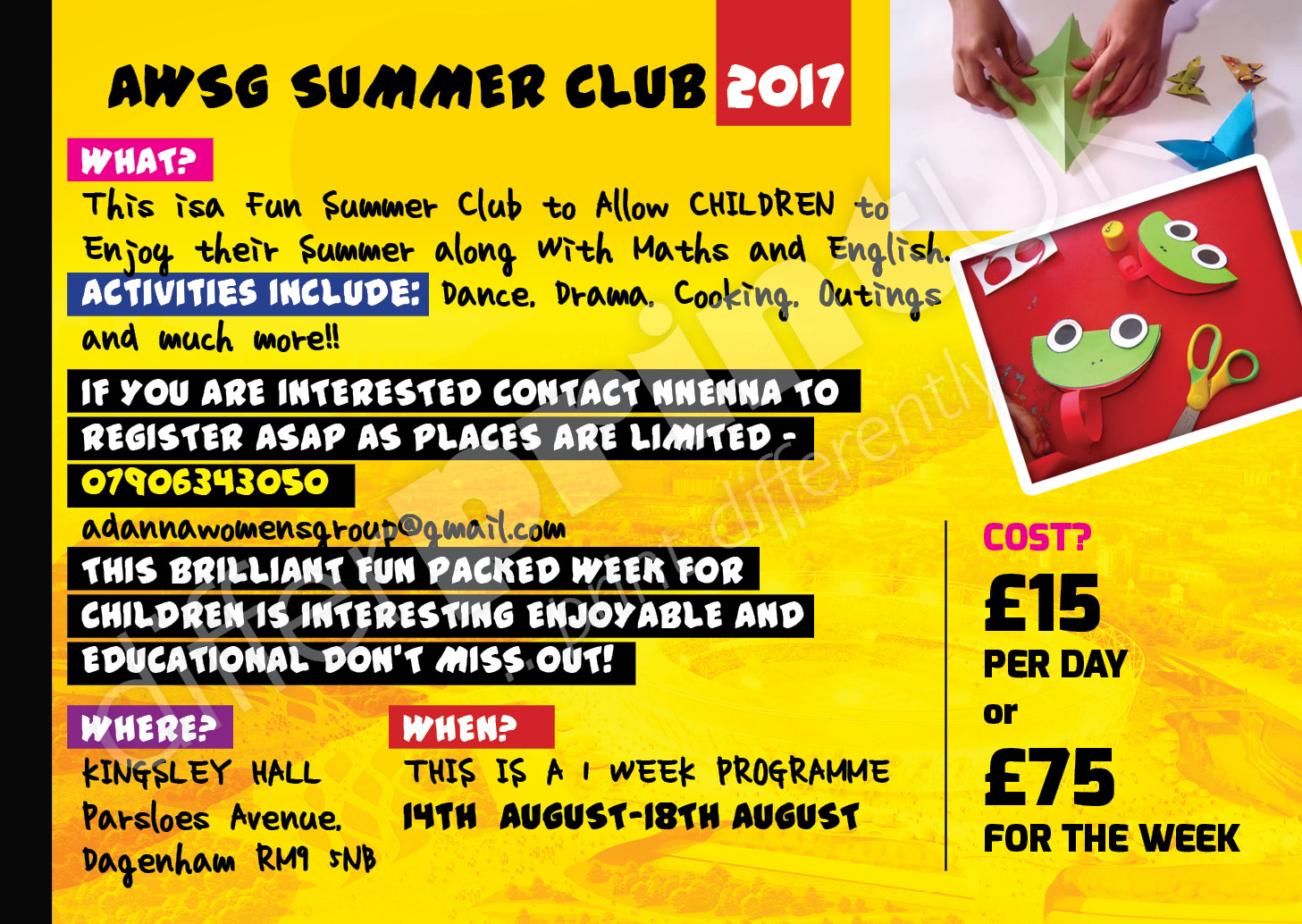 summer school flyer 2