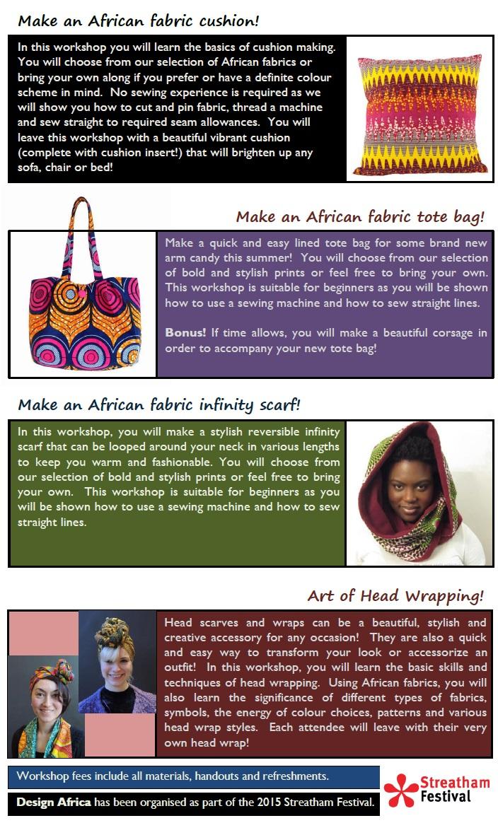 Design Africa 2015 workshops