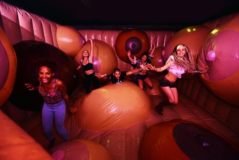 Ladies in bouncy house