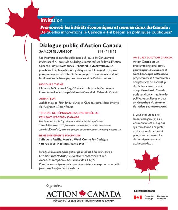 Dialogue public d'Action Canada