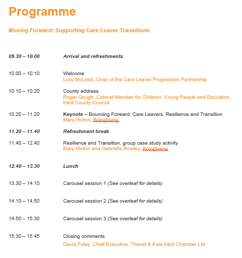 CLPP Conference programme