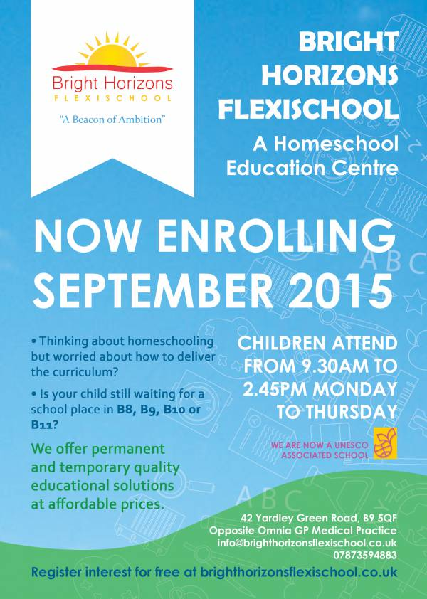 Leaflet enrolling for september 2015