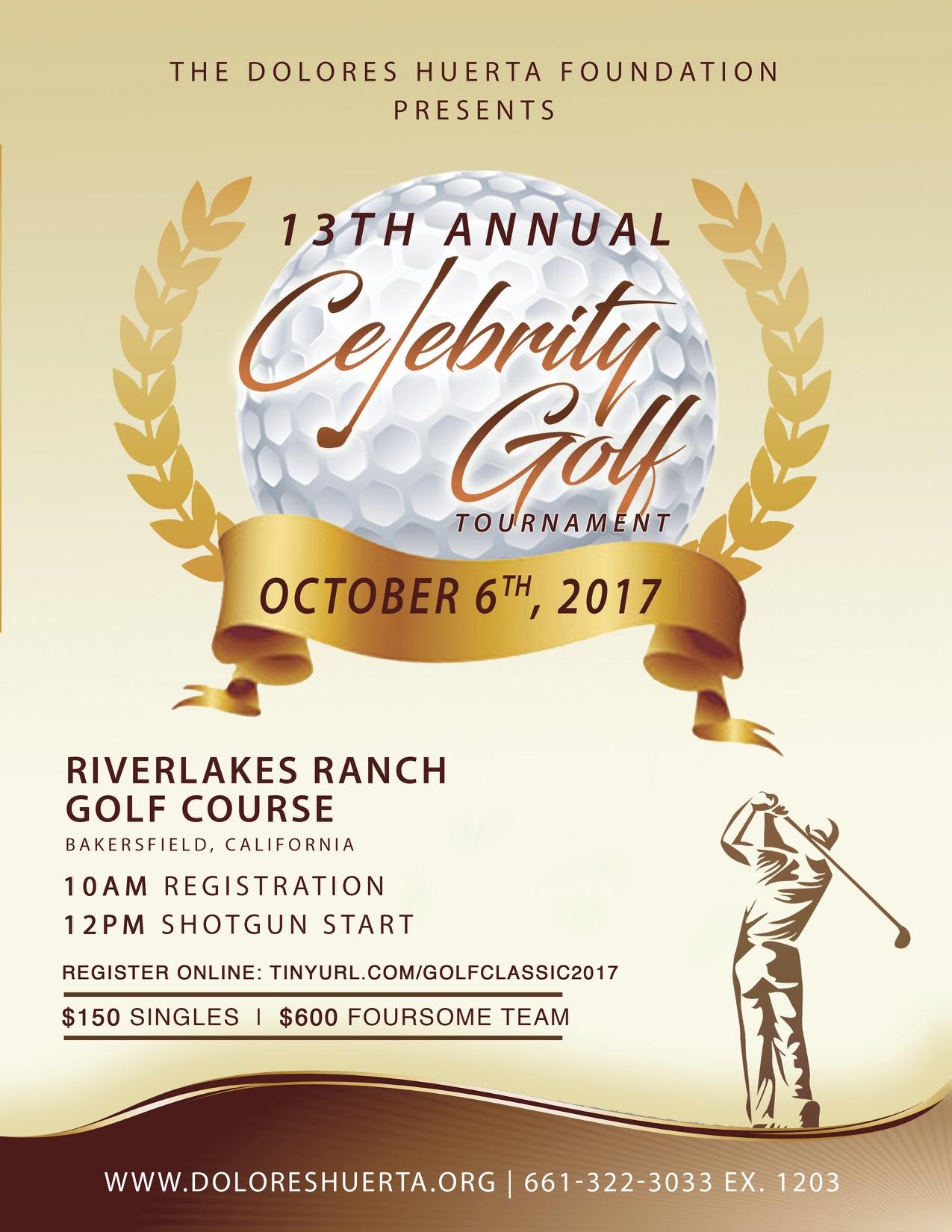 2017 Celebrity Golf Classic Flyer