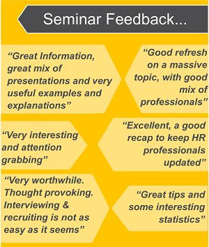 Feedback from past attendees