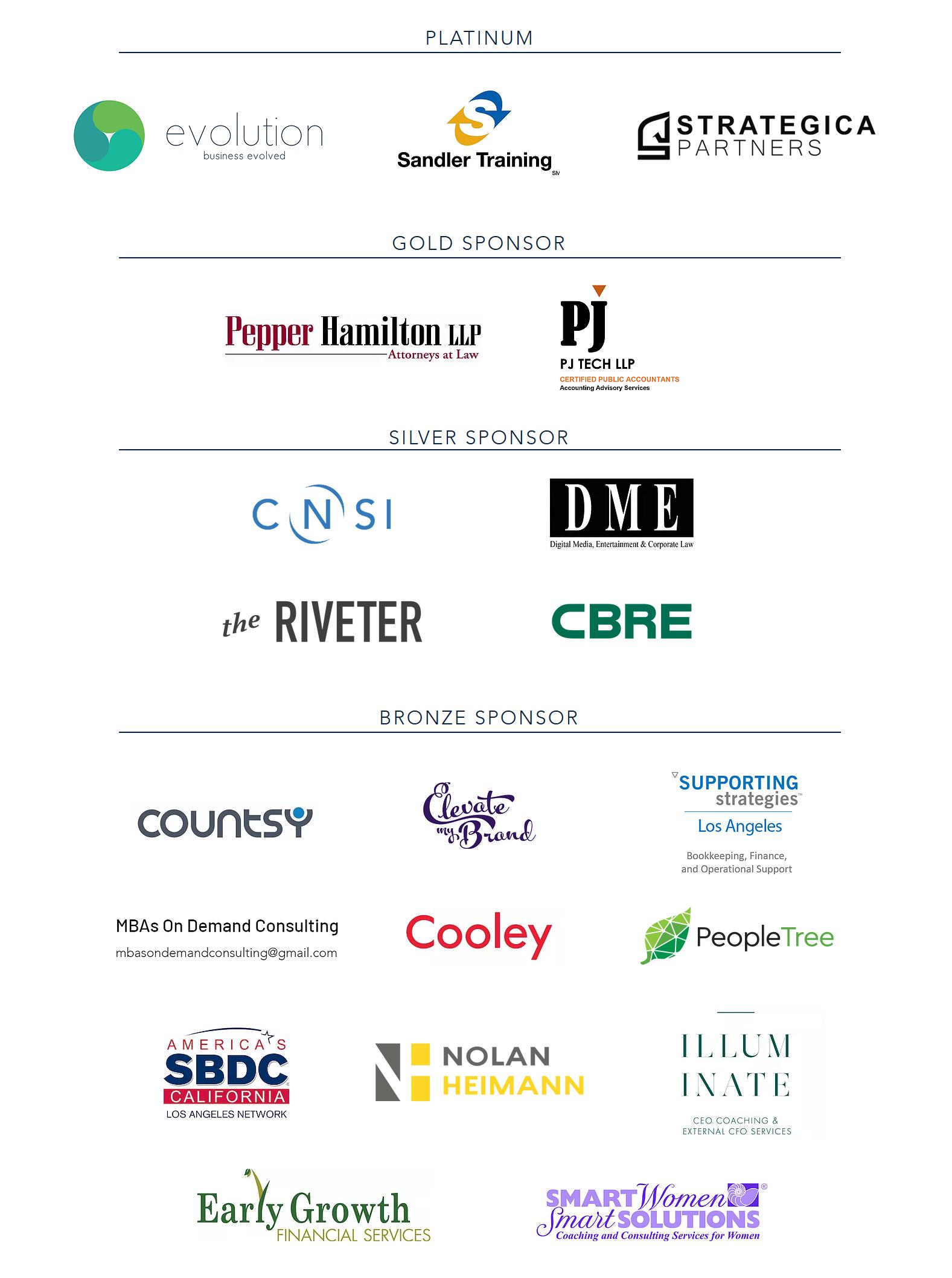 WFN 2019 In-kind Sponsors