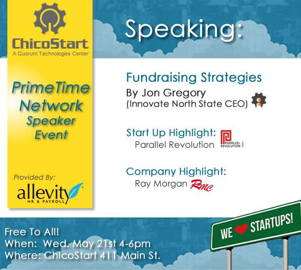 ChicoStart's PrimeTime Network Speaker Event