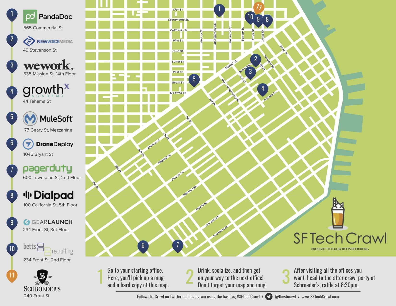 SF Tech Crawl 2017 Map