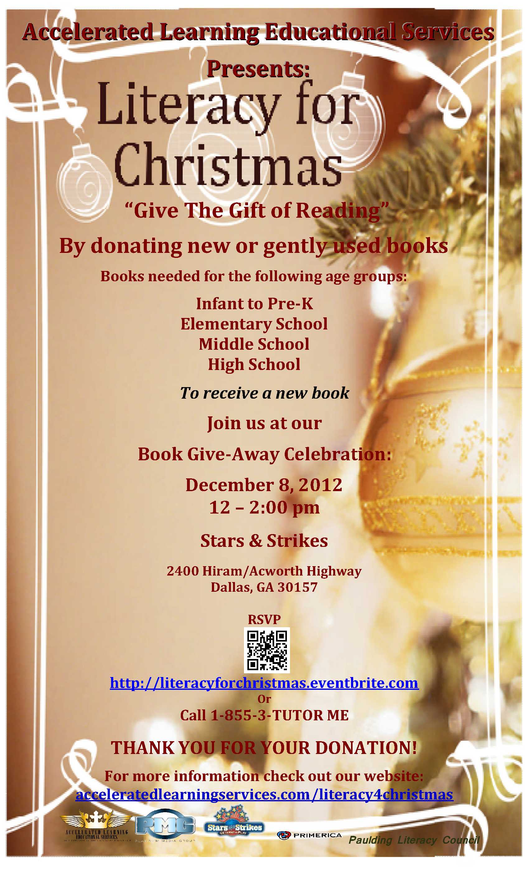 Literacy For Christmas presented by Accelerated Learning Educational Services