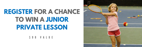 Register to be entered to win a Private Tennis Lesson