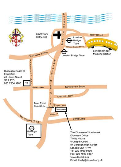 Trinity House map