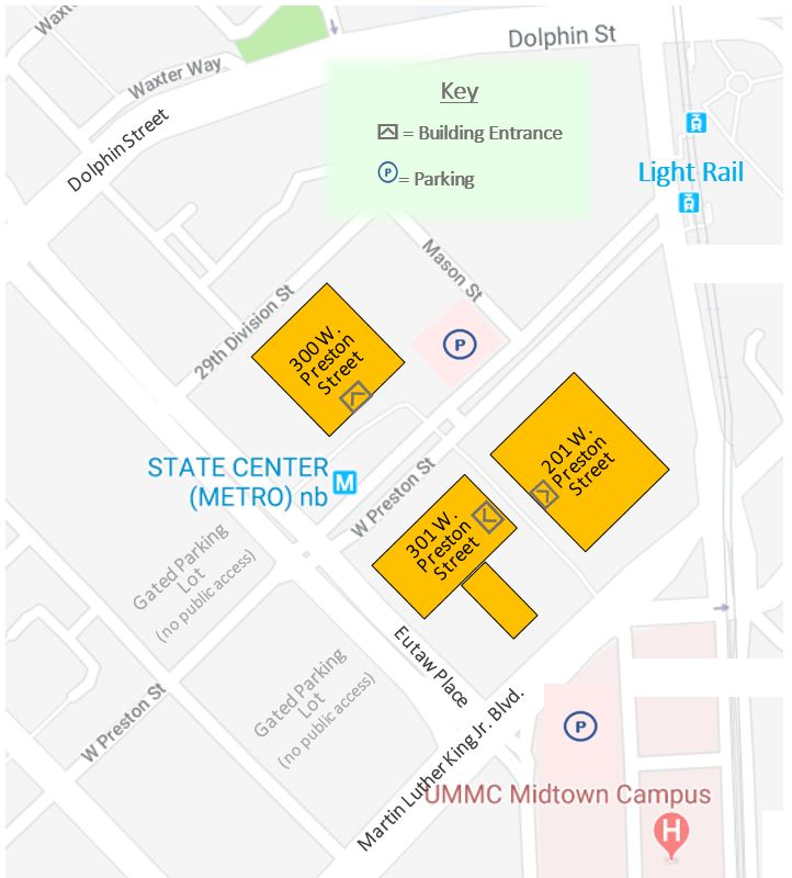 State Office Complex Map