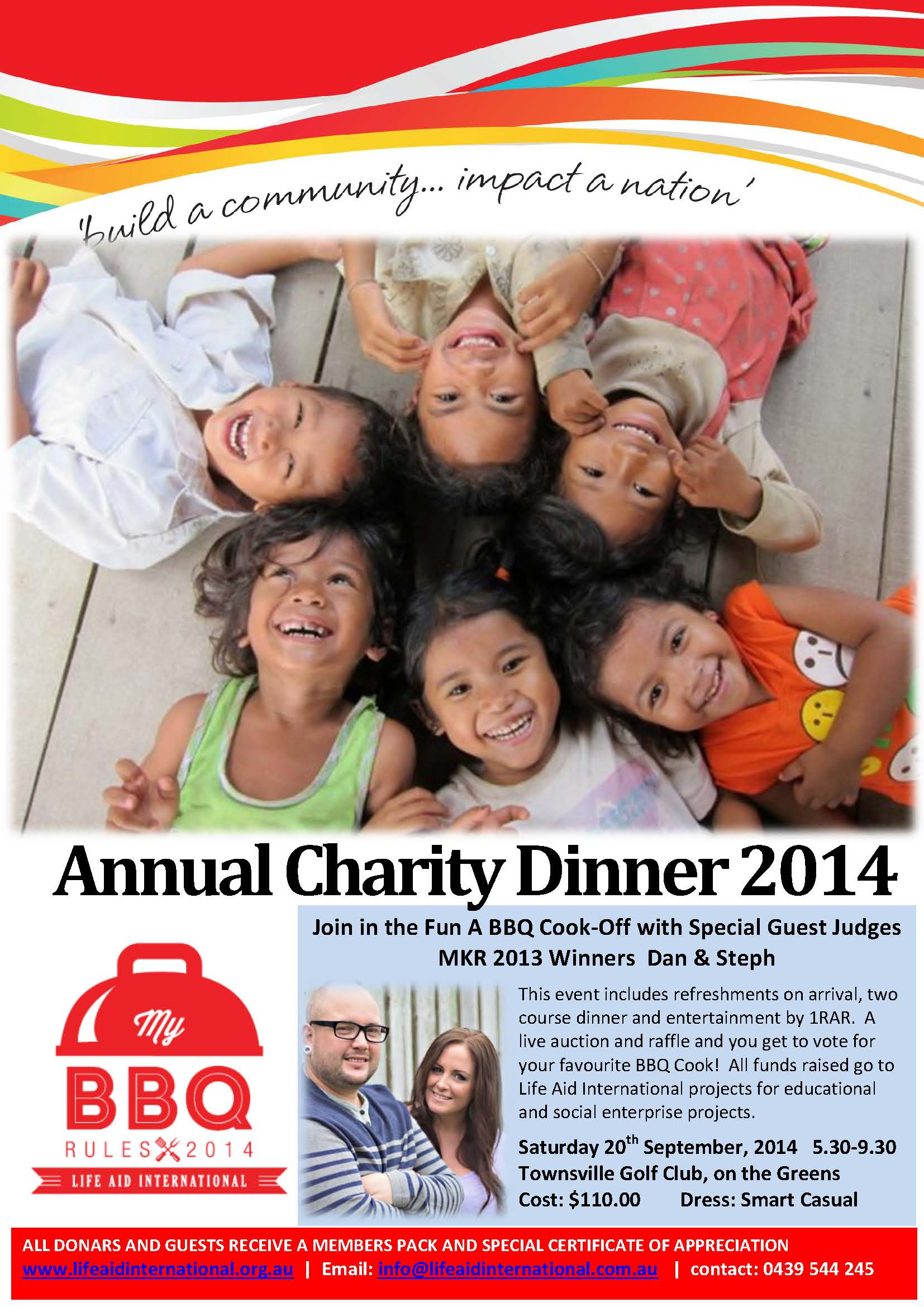 Information on MBR Annual Charity Dinner