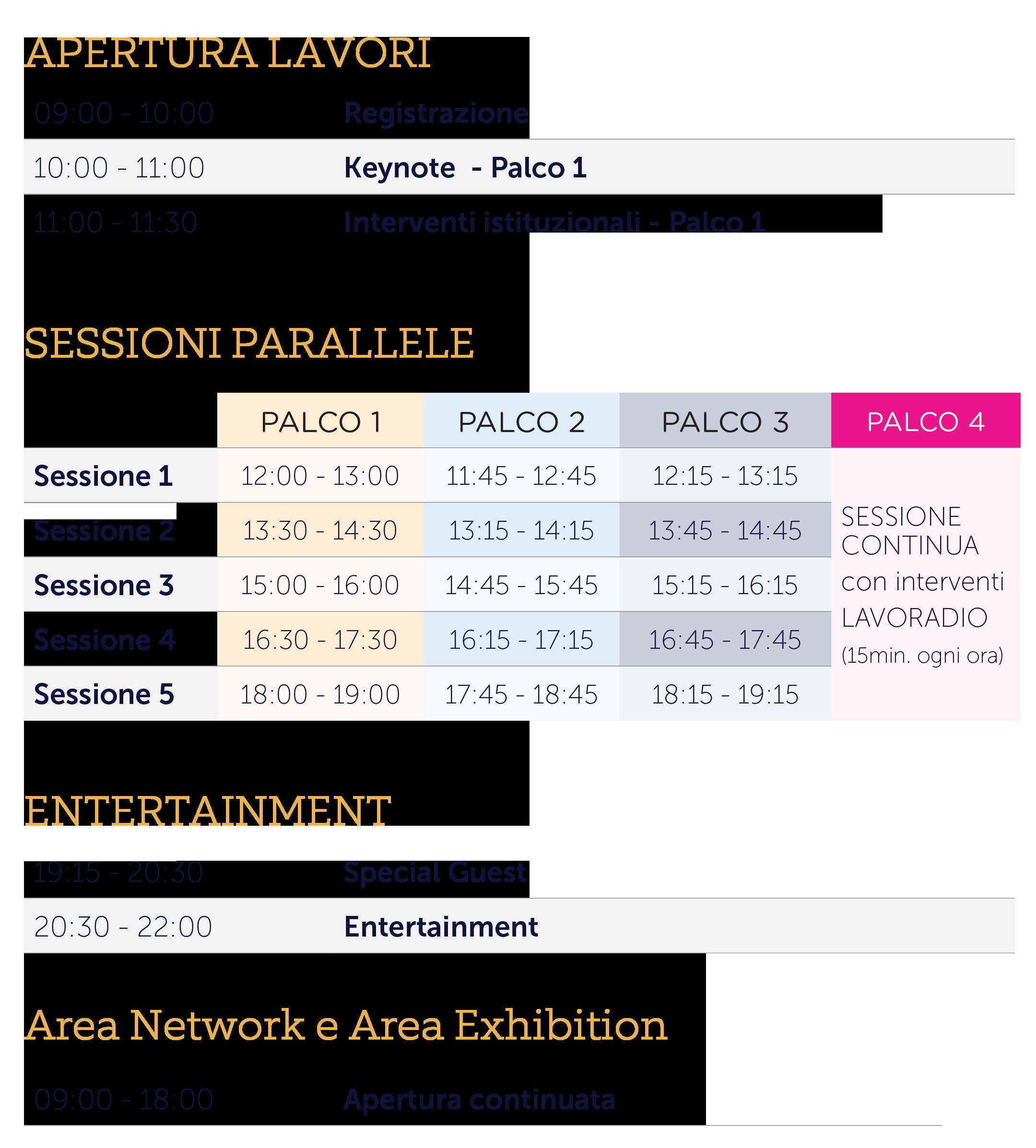 Agenda del festival