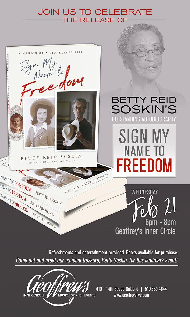 Betty Reid Soskin's Autobiography Book Release - Sign My Name to Freedom @ Geoffrey's Inner Circle | Oakland | California | United States