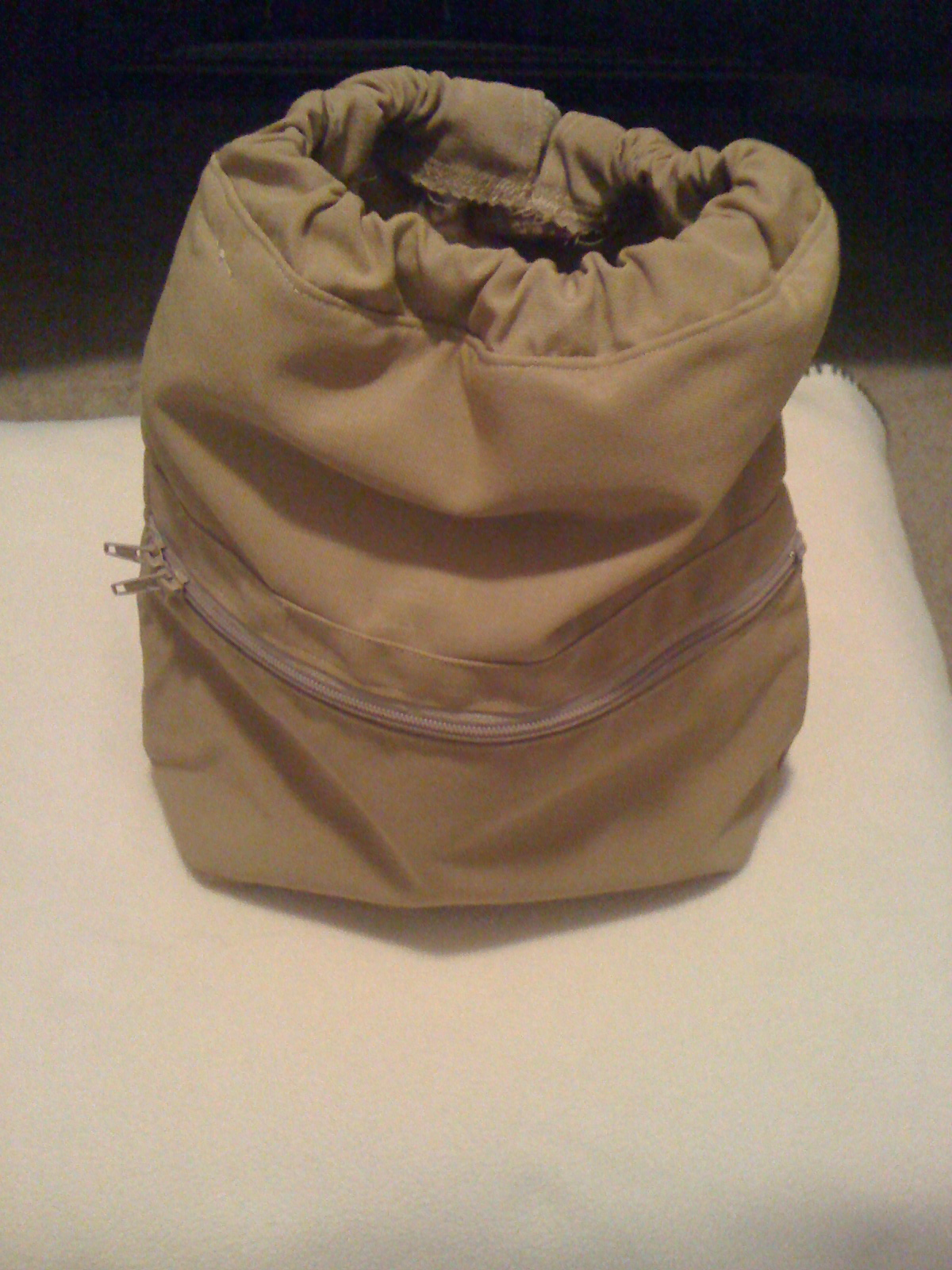 Backpack - Canvas fabric, beige