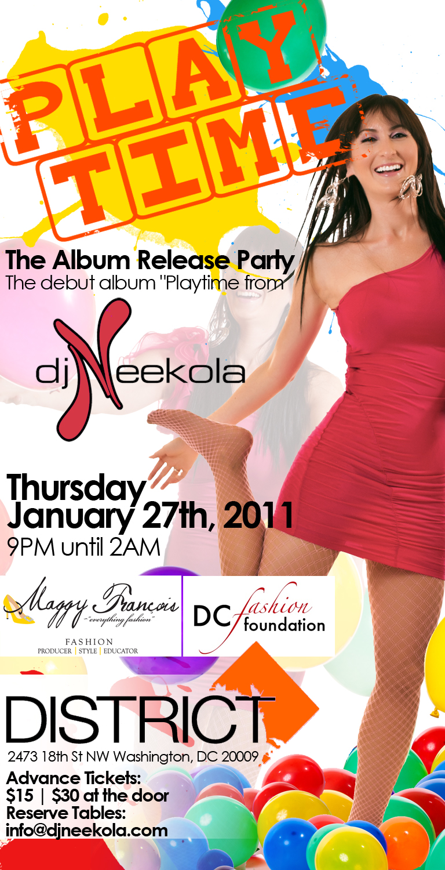 PLAYTIME by @DJNeekola - The Album Release Party