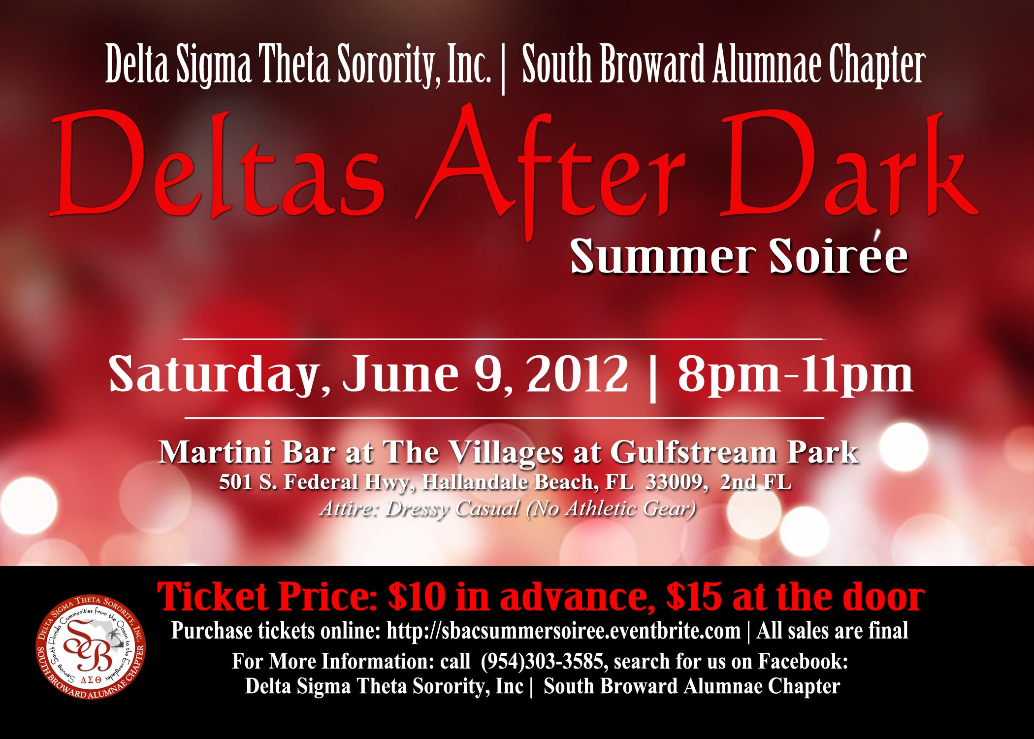 Deltas After Dark Summer Soiree Tickets Sat Jun 9 2012