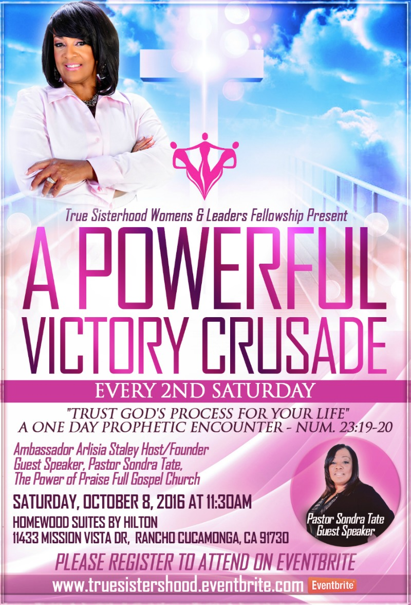 True Sisterhood Womens & Leaders Fellowship Speaker Pastor Sondra Tate