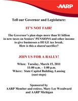 AARP Bus Trip from Southfield to the It's Not Fair! Rally...