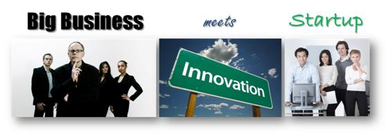 Big business meets startup
