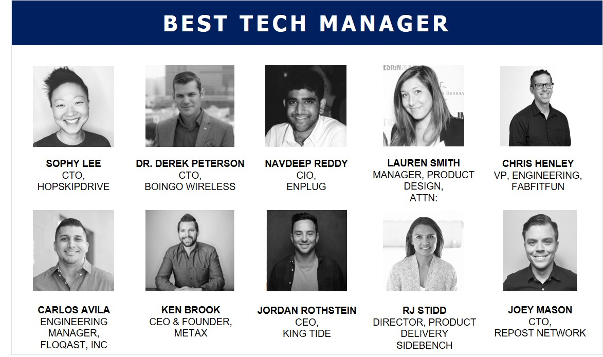 LA's 2018 Best Tech Manager Finalists