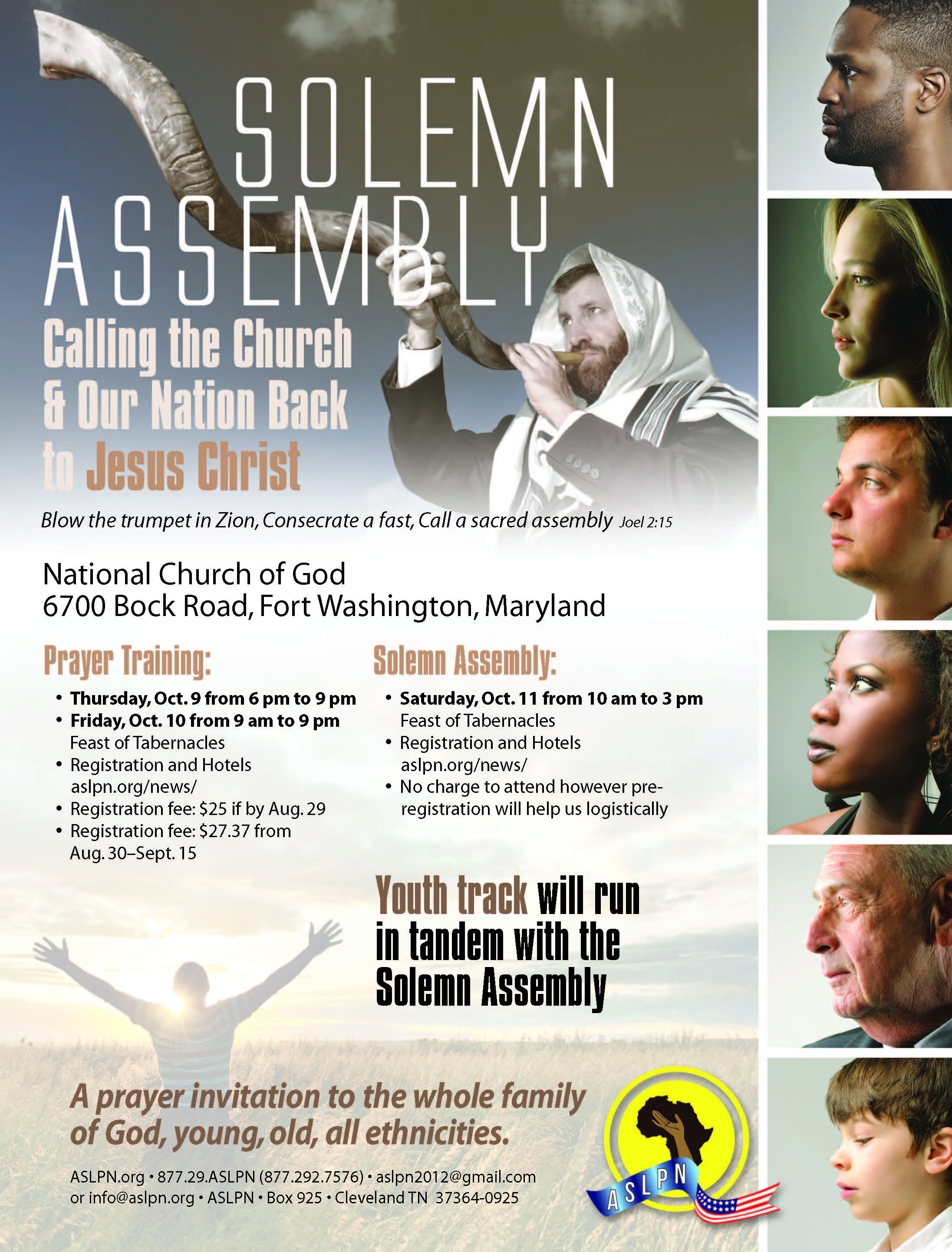 Oct 9-11, 2014 ASLPN Prayer Events Flyer