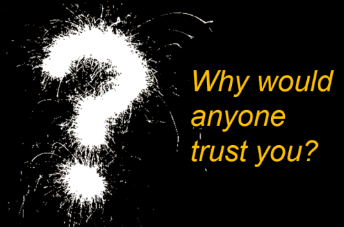 you trust who?   who trusts you?