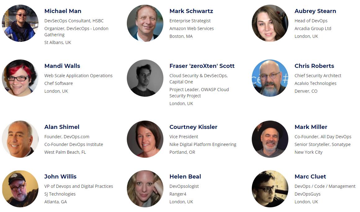 DevSecOps Days London 2018 - Speakers