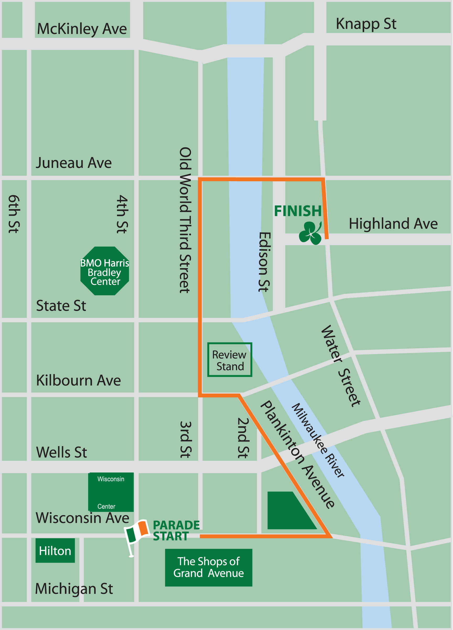 2015 St. Patrick's Day Parade Route