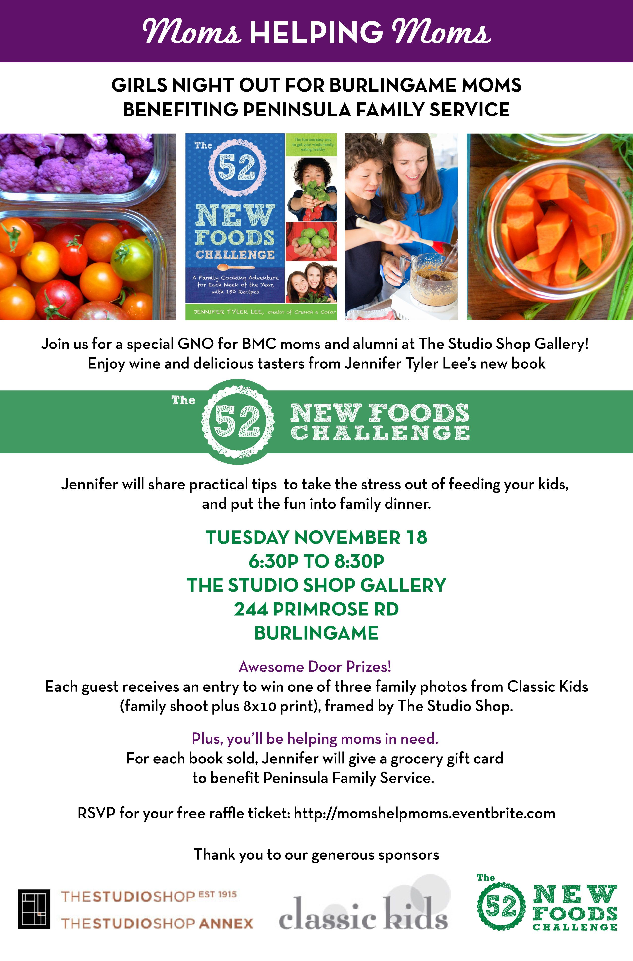 Burligame Mothers' Club Event | The 52 New Foods Challenge