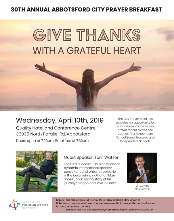 Abbotsford Prayer Breakfast Poster 2019