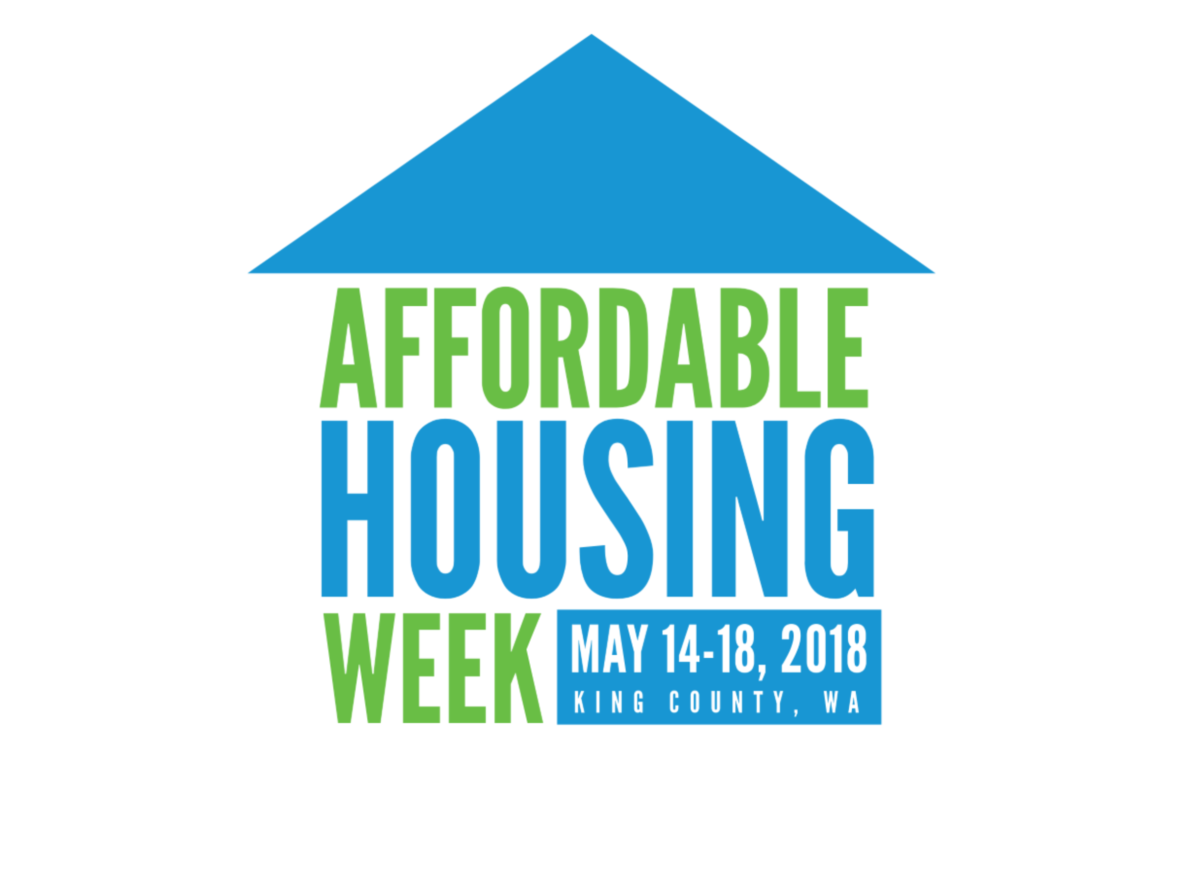 Logo of Affordable Housing Week in King County, May 14-18, 2018