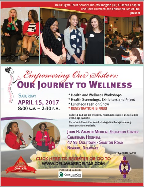 Empowering Our Sisters: Our Journey to Wellness 2017 @ Christiana Care in the John H. Ammon Medical Education Center  | Newark | Delaware | United States