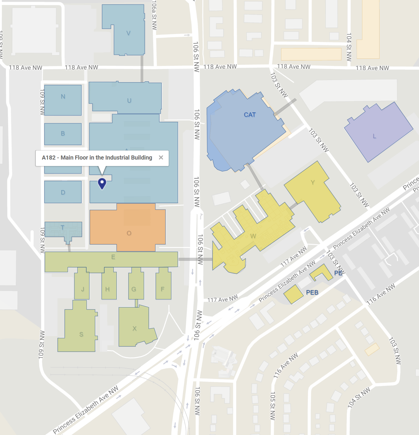 NAIT Campus Map