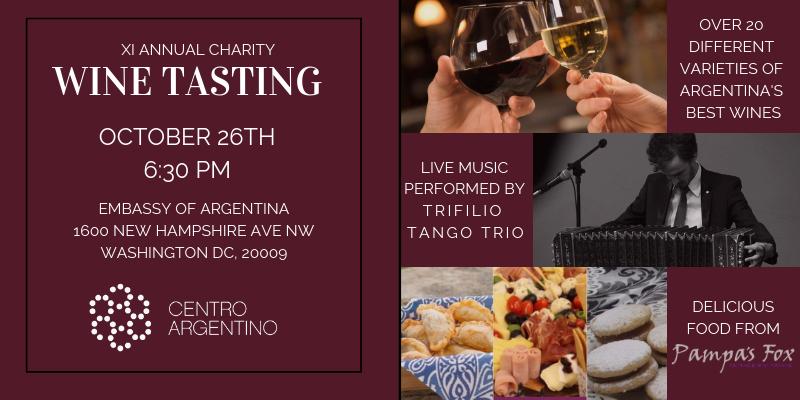 XI Annual Charity Argentine Wine Tasting - 26 OCT 2018