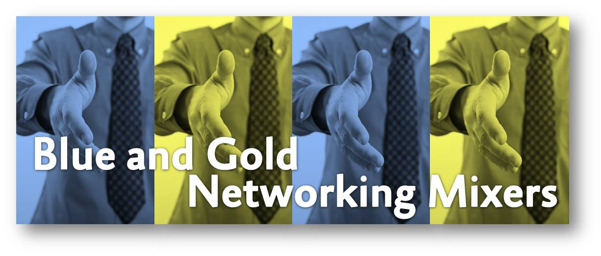 Blue and Gold Networking Mixer