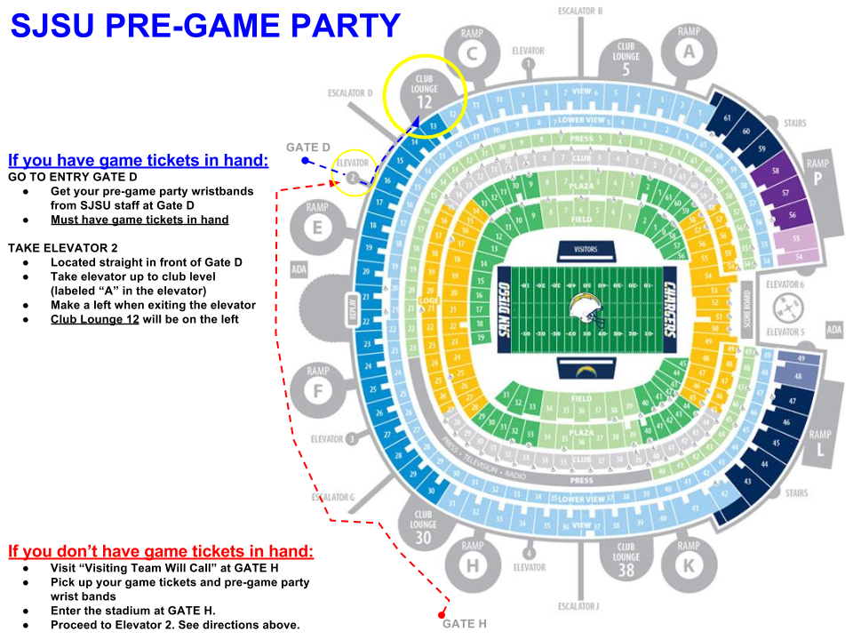 SJSU Pregame Party Map