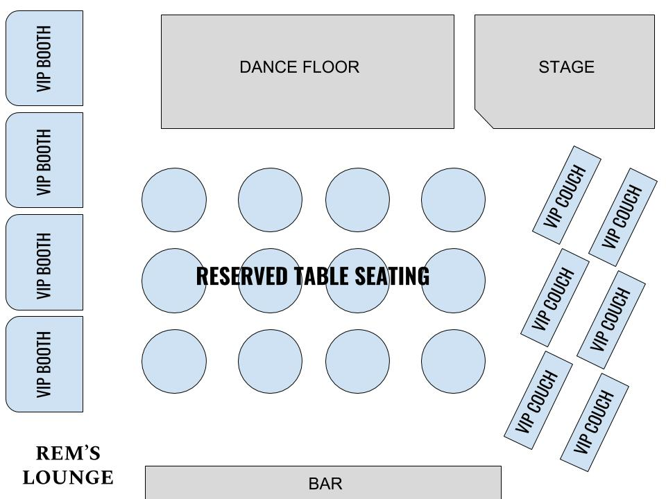 Rems Lounge Seating Map